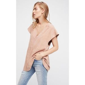 Free People Talk of the Town Suede Tunic